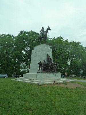 The State of Virginia Monument, the largest of the Confederate memorials - Pickett's Charge set off from here on the third day