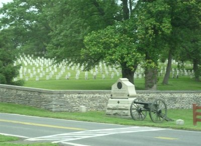 The edge of the Soldiers' National Cemetery at Gettysburg