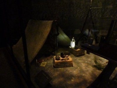 Example of a soldier's tent from the time of the battle