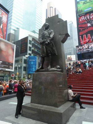 Father Duffy's Statue on the north side of Times Square (also known as Duffy's Square)