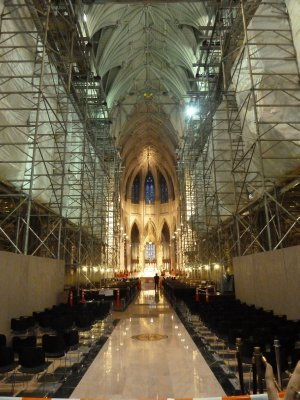 The nave inside St. Patrick's Cathedral