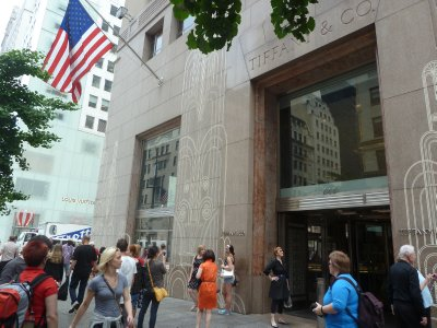 Tiffany's, the famous expensive jewelry store on 5th Avenue