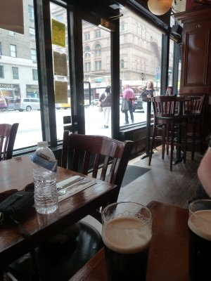 A pint of Guinness in an Irish Bar across the road from the Carnegie Hall