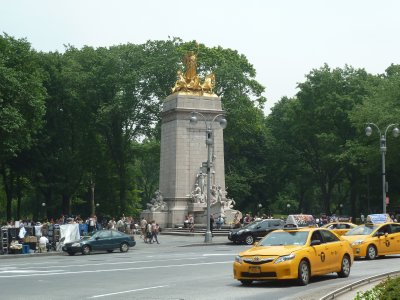USS Maine National Monument at the Colombus Circle entrance to Central Park