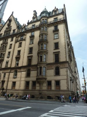 The Dakota Apartment Building on the west side of Central Park where John Lennon and Yoko Ono lived