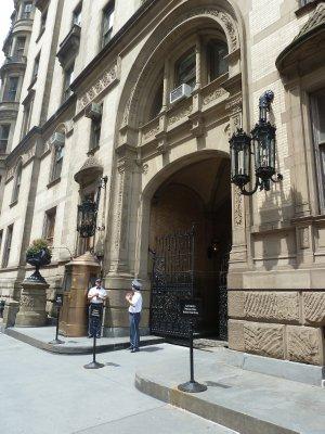 The south entrance to the Dakota Apartment Building where John Lennon was shot