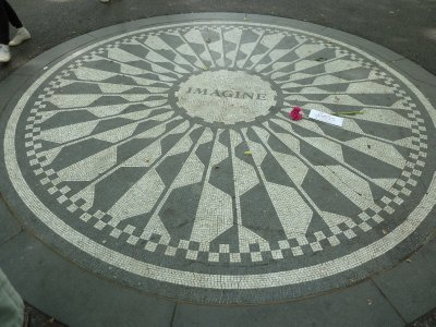 The John Lennon Mosaic in Strawberry Fields, Central Park
