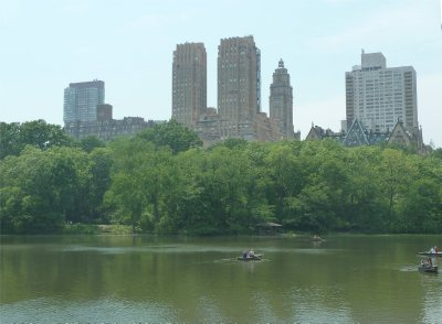 Boating underway on the Lake in Central Park