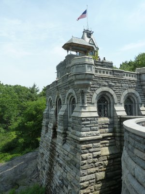 Belvedere Castle in the middle of Central Park