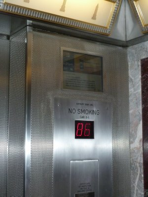 Having transferred to a 2nd lift we finally reached the 86th Floor and the Main Observation Deck