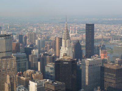 Close up of the Chrysler Building from the 86th floor