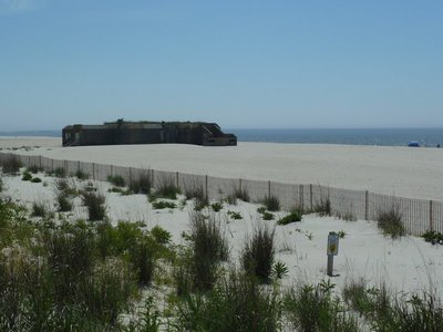The WWII Gun Emplacement on the beach at Cape May