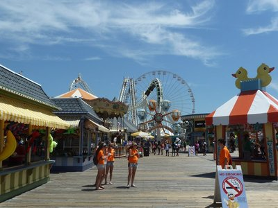 A blend of old and new amusements on the Mariner's Landing Pier
