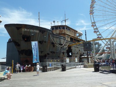 The Ghost Ship Ride on the Mariner's Landing Amusement Pier at Wildwood