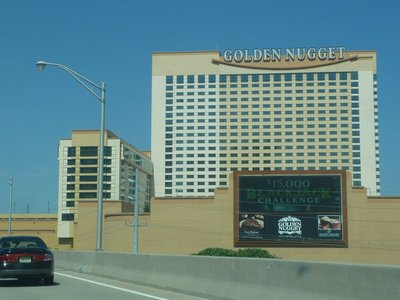 The Golden Nugget (until recently the 'Trump Castle' ) hotel, casino and marina in Atlantic City