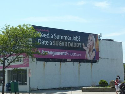 An amusing billboard in Atlantic City advertising a dating agency website
