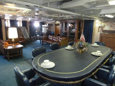 The captain's in-port cabin aboard the USS New Jersey