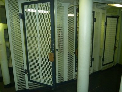 The 'Brig' aboard the USS New Jersey