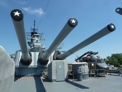 The Rear Main Battery and Seasprite Helicopter aboard the USS New Jersey