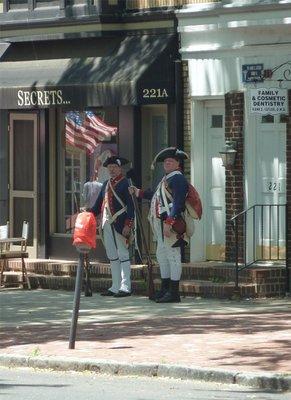 New Jersey Volunteers on guard duty along Haddonfield's Kings Highway