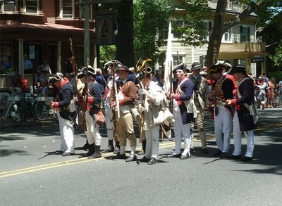 The New Jersey Volunteers form up to meet the British