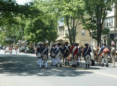 The New Jersey Volunteers get their first glimpse of the British skirmishers
