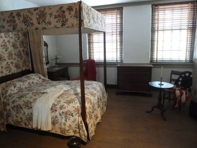 Betsy Ross' bedchamber where she sewed the first Stars and Stripes