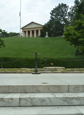 The eternal flame by President John F. Kennedy's grave