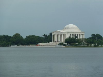 The Thomas Jefferson Memorial on the other side of the Tidal Basin