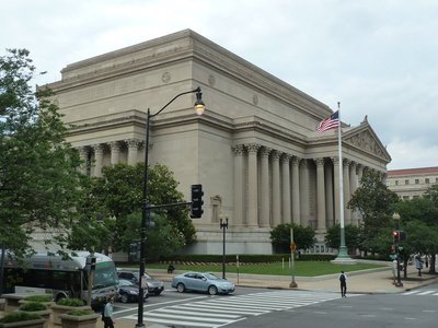 The National Archives Building on Constitution Avenue