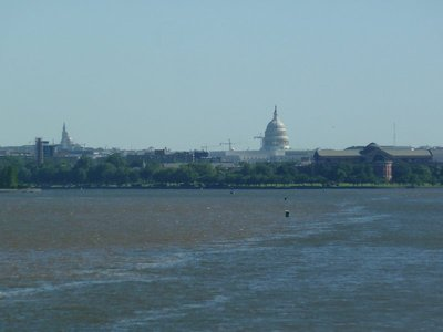 Our last view of the Capitol Building as we set sail down the Potomac for Mount Vernon