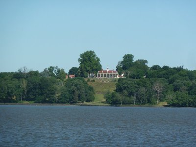 George Washington's House at Mount Vernon as seen from the Potomac River