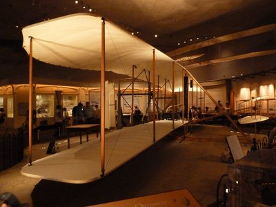 The 'Wright Flyer' - first manned heavier-than-air flight (1903)