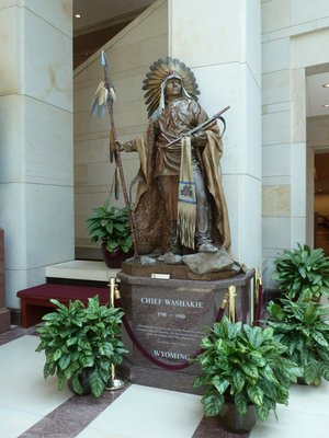 Chief Washakie (1798-1900) from Wyoming's Statue in Emancipation Hall