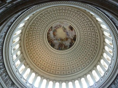 Looking up at the inside of the Dome from the Rotunda
