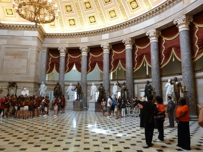National Statuary Hall where the House of Representatives sat 1807-1857