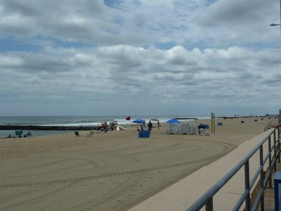 The beach at Asbury Park