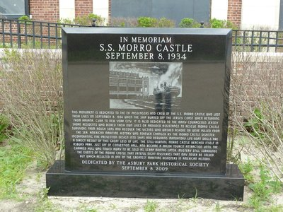 Monument to the victims of the SS Morro Castle disaster in 1934