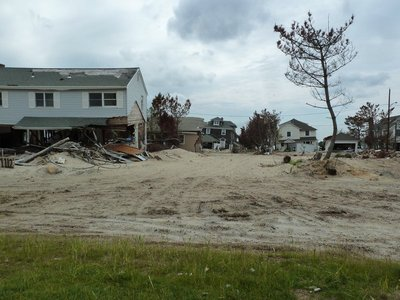Houses damaged by Hurricane Sandy in Mantoloking