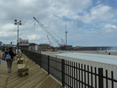 Another view of the pier repairs underway at Seaside Heights