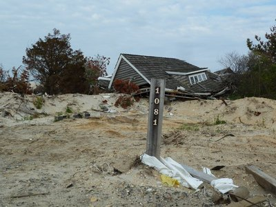 House destroyed by Hurricane Sandy at Mantoloking