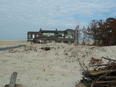 Another badly damaged house following Hurricane Sandy