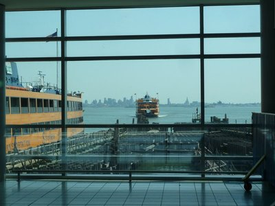 The Staten Island Ferry arriving to take us over to New York