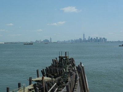 View of New York as we are about to leave Staten Island