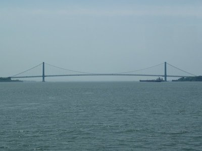 The Verrazano-Narrows Bridge between Brooklyn and Staten Island