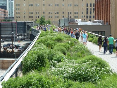 The High Line's Chelsea Grasslands above 18th Street