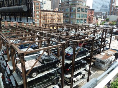 The Elevated Parking next to the High Line near 18th Street