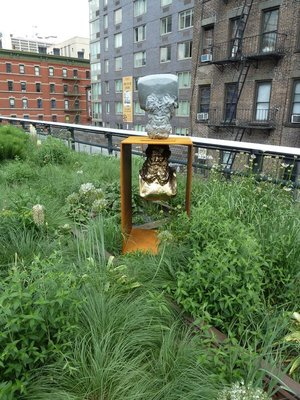 A piece of modern art from the 'Busted' collection on the High Line