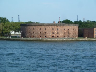 Castle Williams on Governor's Island from the Staten Island Ferry