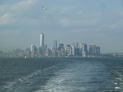 My last view of New York from the Staten Island Ferry